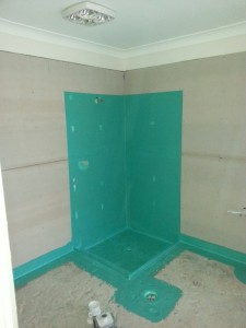 Waterproofing bathroom shower